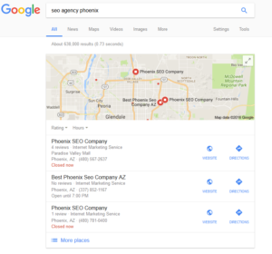 Local SEO Google 3 Pack Results